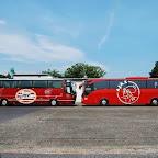 Bova Magiq van PSV / Oad Reizen. Mercedes Tourismo van Ajax / Oad Reizen.
