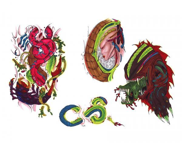 Scary Tattoo Design, Fantasy Tattoo Designs