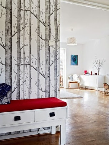 Bienvenido a mi hogar medias y tintas - Papel pintado para recibidores ...