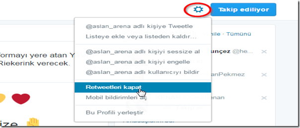 retweetleri-kapatma