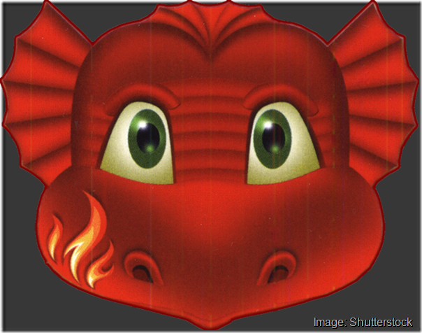 kids-face-masks-template-animals-red-dragon