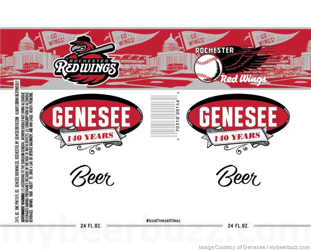 Genesee Celebrates 140 Years With Rochester Red Wings 24oz Cans
