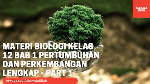 Materi Biologi Kelas 12 BAB 1 Pertumbuhan dan Perkembangan Lengkap - Part 1