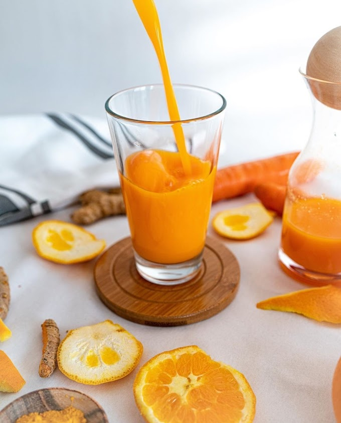 Orange Turmeric Juice Recipe | Breakfast Care