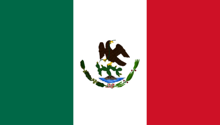 Bandera de la primera república federal (1823-1864) (Historia de la bandera de México)