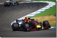Max Verstappen nelle prove libere del gran premio di Germania 2018