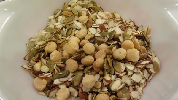 Place the nuts and seeds in a large bowl, cover with water  and...