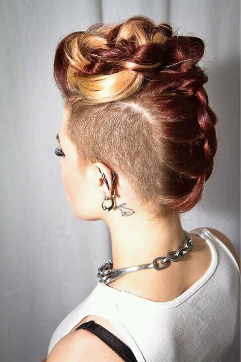 Mohawk Hairstyles ideas: Braided mohawk is the best 2018 6