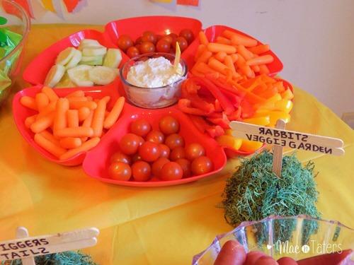 Winnie the Pooh Birthday Party Food Ideas: Rabbit's Veggie Garden