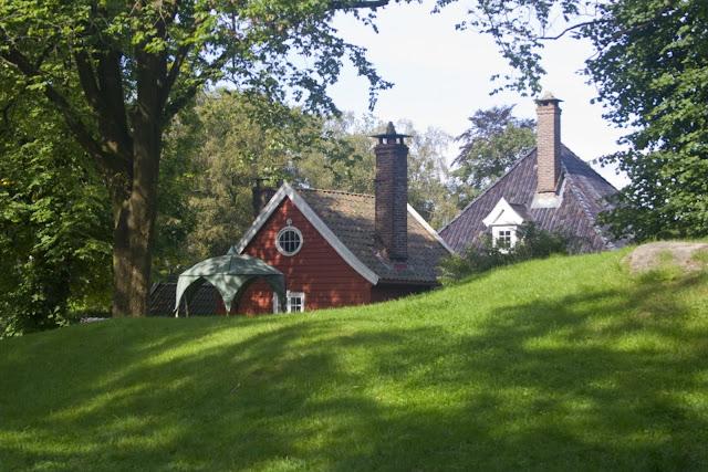 Casas en mitad del parque/museo de Gamle Bergen