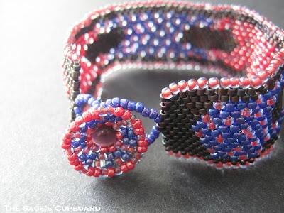 Tripleberry Faux Freeform Bracelet