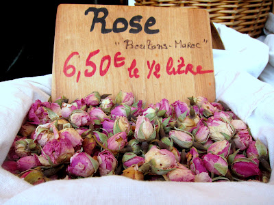Roses at a Market in Brive, France