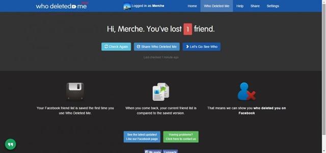 برنامج معرفة من حذفك من فيسبوك Who Deleted Me v0.2.21