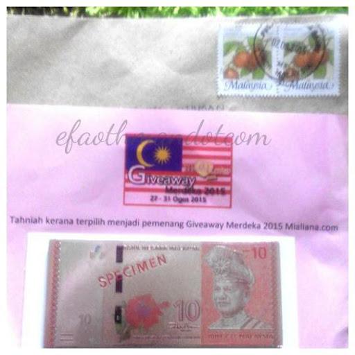 "Hadiah Pemenang ""Giveaway Merdeka 2015 By Mialiana.com"