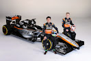 Sergio Perez and Nico Hulkenberg with the Force India VJM08