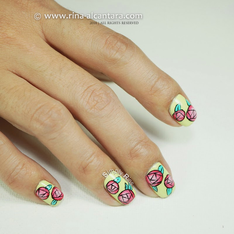 Nail Art: Paper Roses by Simply Rins