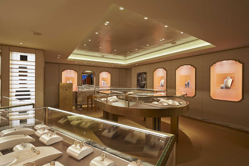 Stroll through the shops of Norwegian Joy to find the perfect Bulgari accessories.