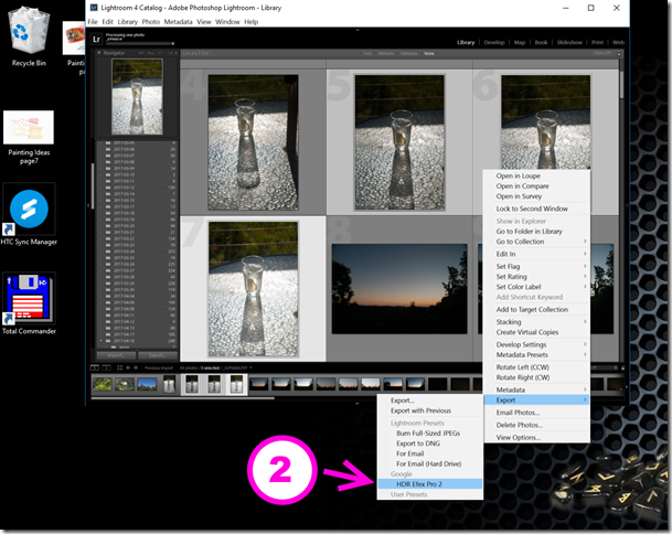 The Lightroom export required
