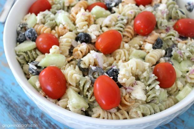 caesar pasta salad blog hop
