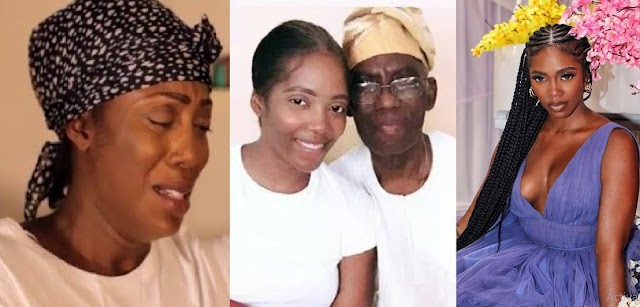 Tiwa Savage in Tears as she Allegedly Loses Her Father Barely A Month After Losing Her Lover