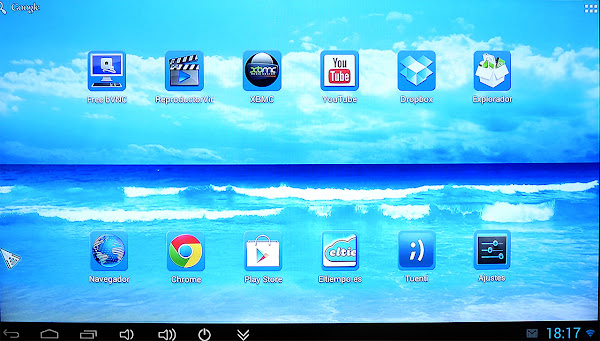 Interface Android 4.1 Rikomagic MK802IIIs