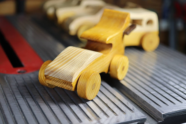 Handmade Wooden Toy Car Sport Coupe From The Speedy Wheels Series