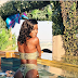 Lmao: Ex-BBN housemate, Khloe tries to call us with her backside in new bikini photos but she has no Airtime [Photos]