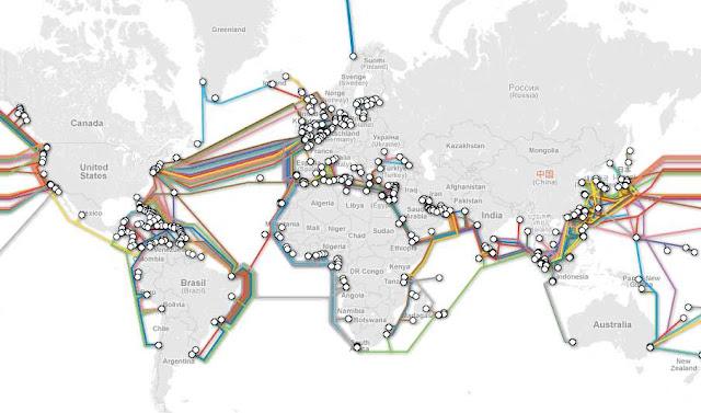 شبكة كابلات الانترنت