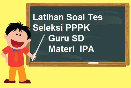 Latihan Soal Tes Seleksi PPPK Guru SD materi IPA Tahun 2021