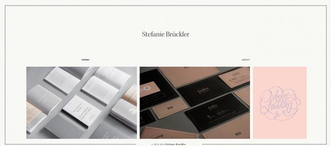 Hay un toque de elegancia pasada de moda en el portafolio de Stefanie Bruckler
