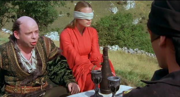Vizzini, Buttercup y el Enmascarado