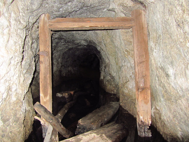 looking into the mine shaft