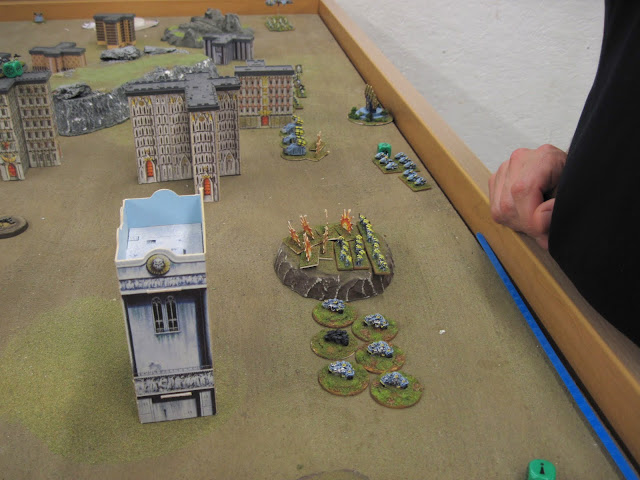 The Wolves take a pounding in their deployment zone.