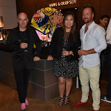 OIC - ENTSIMAGES.COM - Tony Moore - Iron Maiden Singer, Venessa Horca and Robert Griffiths at the  Bang and Olufsen 90th Anniversary Love London Collection  London 10th September 2015 Photo Mobis Photos/OIC 0203 174 1069