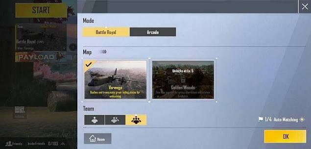 PUBG Mobile Lite'da farklı oyun modları