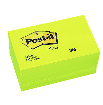 Post-it 655 127x76 neongrön