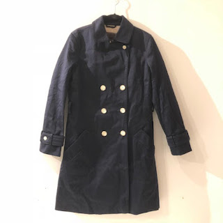 Coach Navy Trench Coat