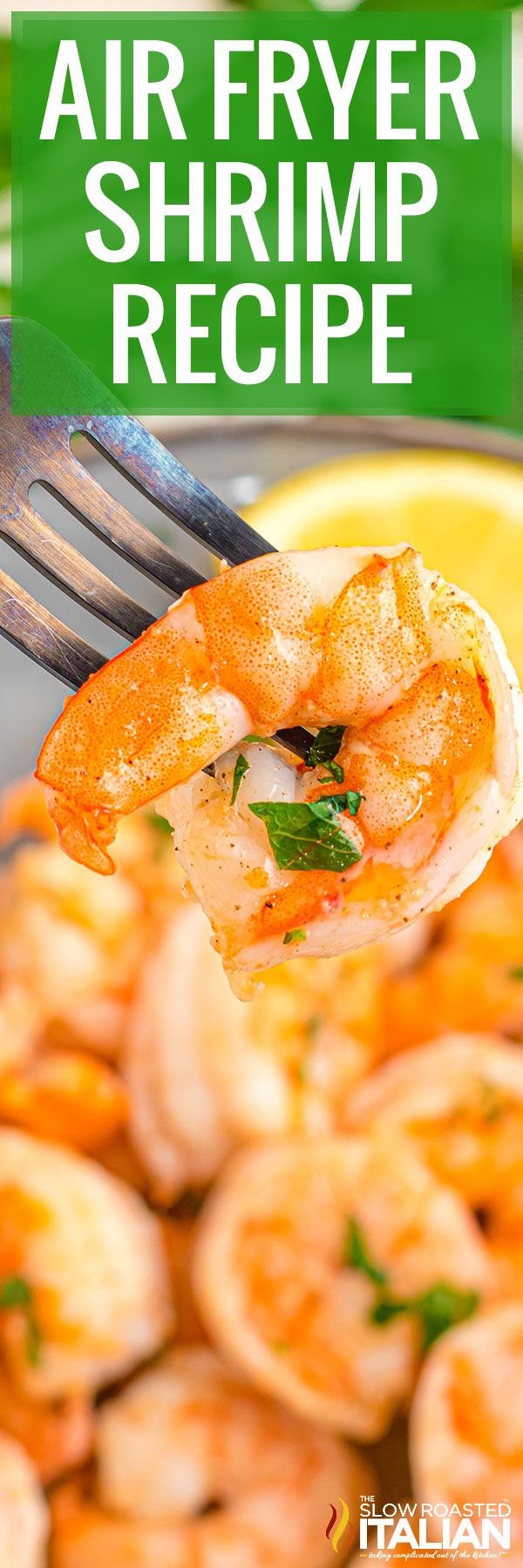 air fryer shrimp closeup