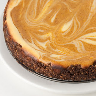 Bourbon Pumpkin Marble Cheesecake