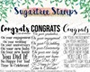 Sugartree Stamps Congrats