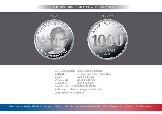 uang NKRI baru Rp1000 logam
