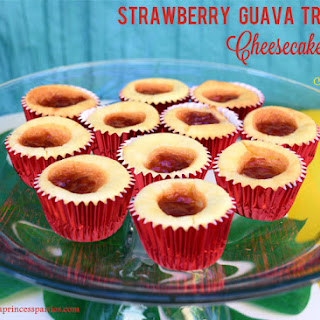 Strawberry Guava Tropical Cheesecake Bites.
