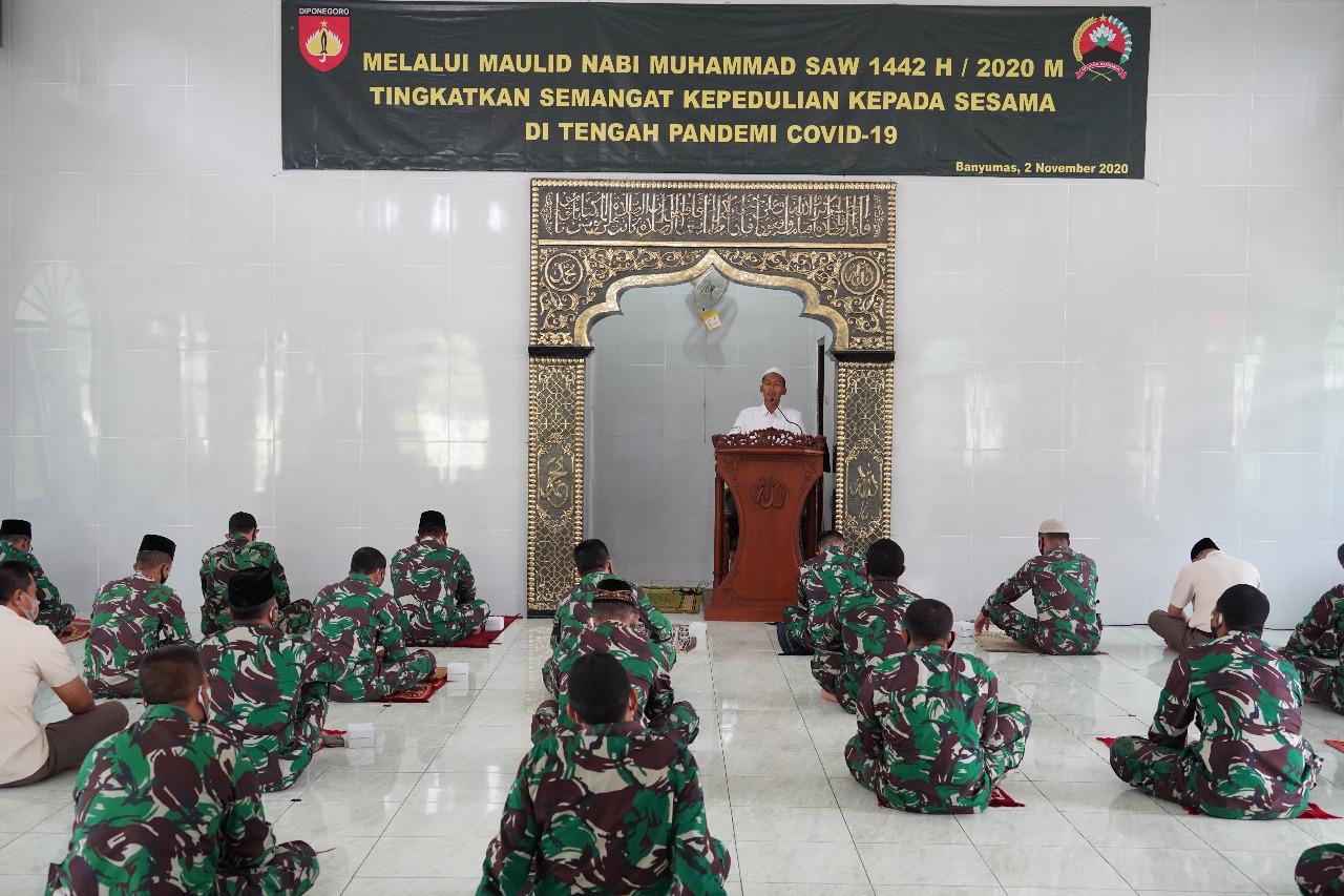 Korem 071/Wijayakusuma Gelar Peringatan Maulid Nabi Muhammad SAW 1442 H/2020 M