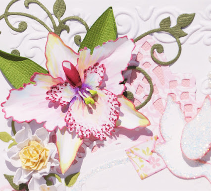 Orchid Card Closeup