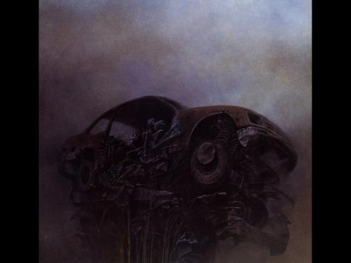 Zdzislaw Beksinski Car Of Fear, Death