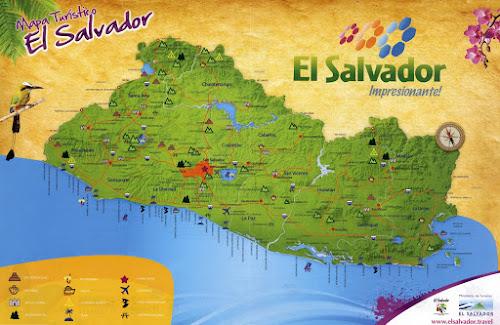 Mapa turístico de El Salvador