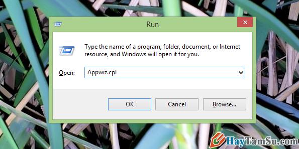 Mở chương trình gỡ bỏ Microsoft Office
