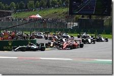 L'incidente tra Vettel, Raikkonen e Verstappen