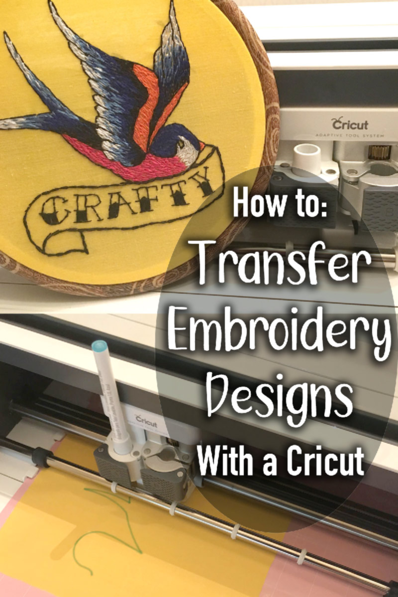 How to transfer embroidery pattern with cricut