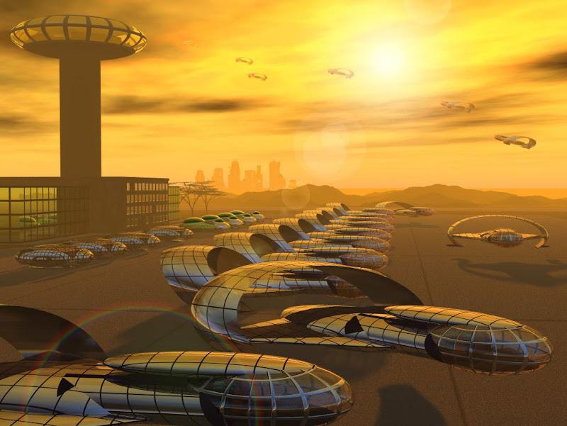 Sunset Of Spase City, Fiction 1